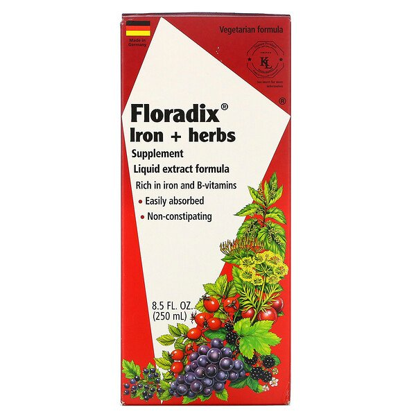 Floradix, Iron + Herbs Supplement, Liquid Extract Formula, 8.5 fl oz (250 ml)