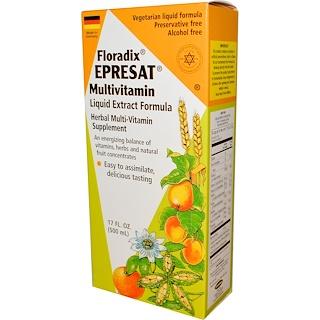 Flora, Floradix, Epresat Multivitamin, Liquid Extract Formula, Alcohol Free, 17 fl oz (500 ml)