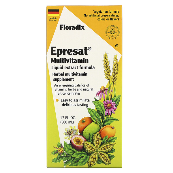 Flora, Floradix, Epresat Multivitamin, Liquid Extract Formula, 17 fl oz (500 ml) (Discontinued Item)