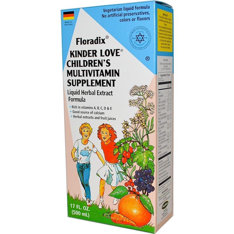 Floradix, Kinder Love, Children's Multivitamin Supplement, 17 fl oz (500 ml)