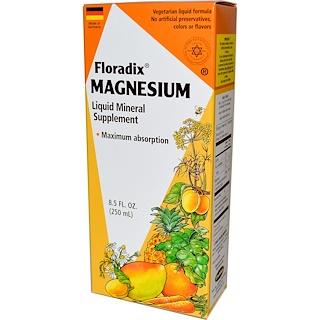 Flora, Floradix, Magnesium, Liquid Mineral Supplement, 8.5 fl oz (250 ml)