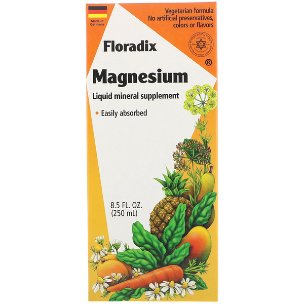 Flora, Floradix, Magnesium, Liquid Mineral Supplement, 8.5 fl oz (250 ml)