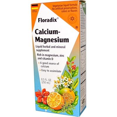 Salus-Haus, Floradix, кальций и магний с цинком и витамином D, 8.5 жидких унций (250 мл)