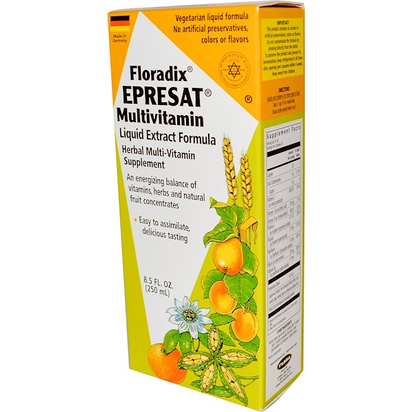 Flora, Floradix, Epresat Multivitamin, Liquid Extract Formula, 8.5 fl oz (250 ml) (Discontinued Item)