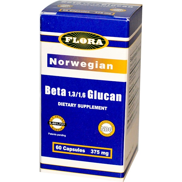 Flora, Norwegian Beta 1,3/1,6 Glucan, 375 mg, 60 Capsules (Discontinued Item)