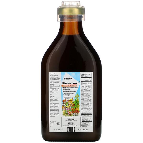 Flora, Floradix, Kinder Love Children's Multivitamin Supplement, Gluten-Free Formula, 17 fl oz (500 ml) (Discontinued Item)