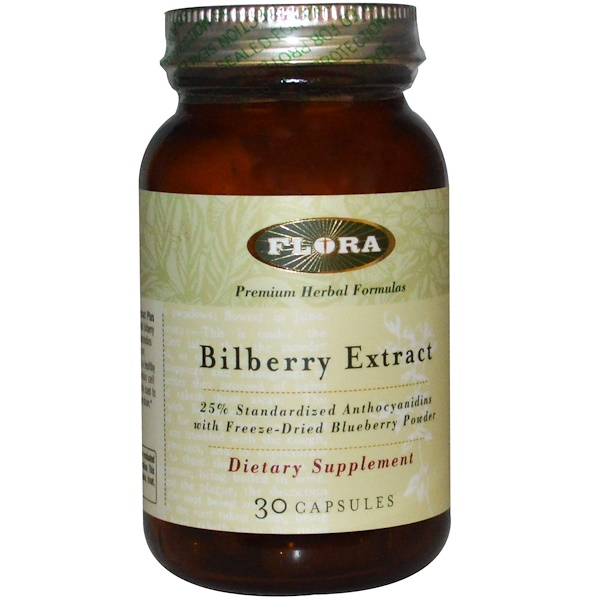 Flora, Bilberry Extract, 30 Capsules (Discontinued Item)