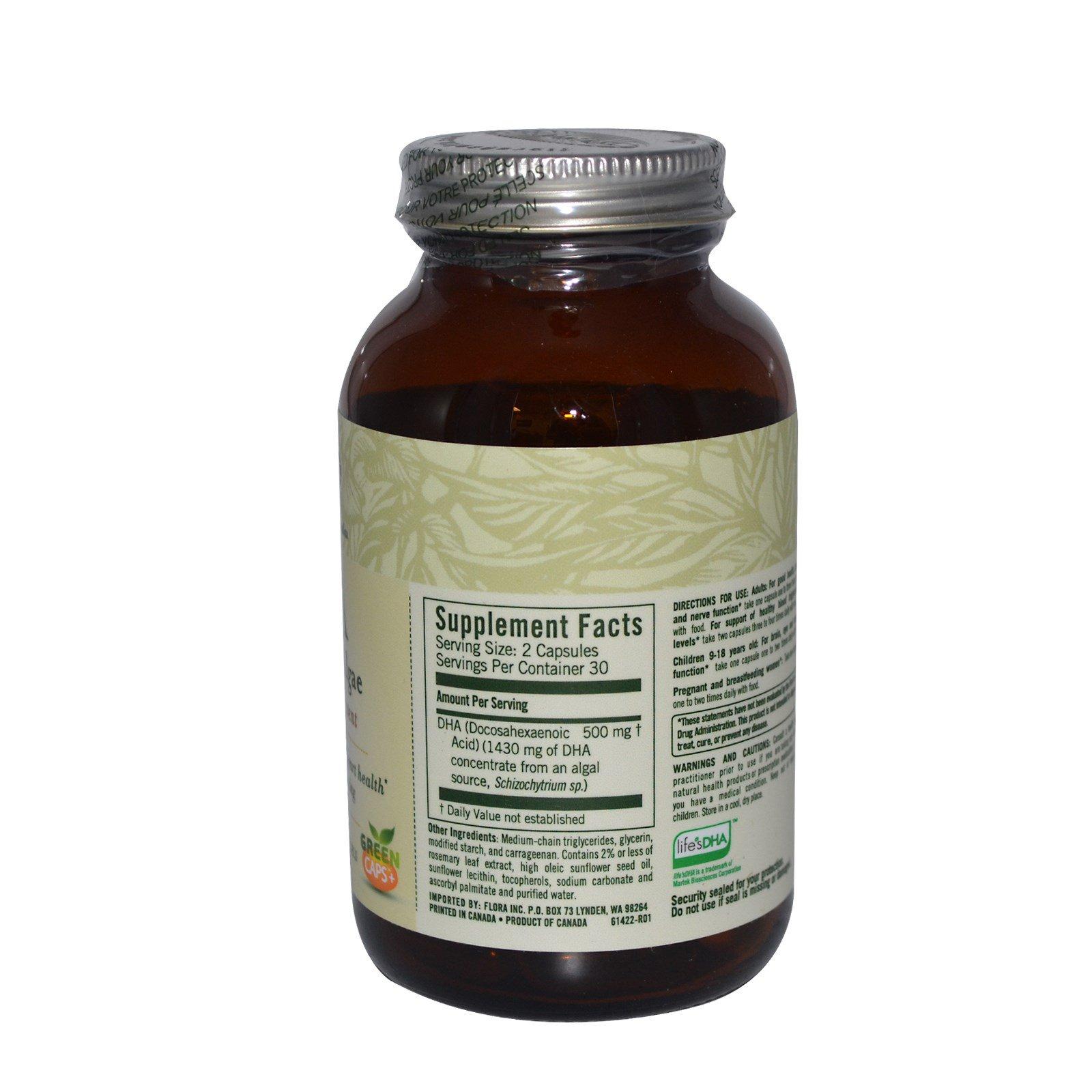 Flora, Растительные водоросли с  докозагексановой кислотой, 60 растительных капсул