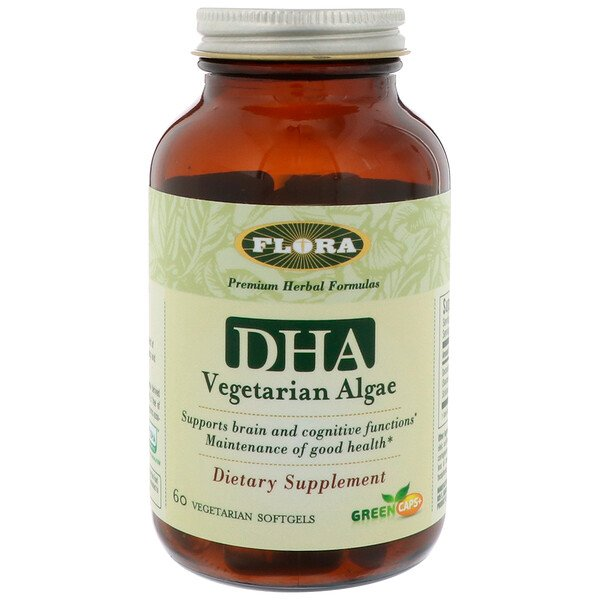 DHA Vegetarian Algae, 60 Vegetarian Softgels