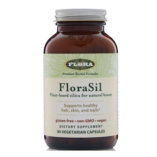 Flora, FloraSil, Plant Based Silica for Natural Beauty, 90 Veggie Caps