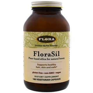 Flora, FloraSil, Plant Based Silica for Natural Beauty, 180 Veggie Caps