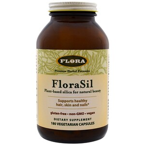 Флора, FloraSil, Plant Based Silica for Natural Beauty, 180 Vegetarian Capsules отзывы покупателей