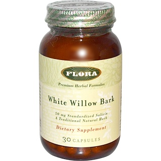 Flora, White Willow Bark, 30 Capsules