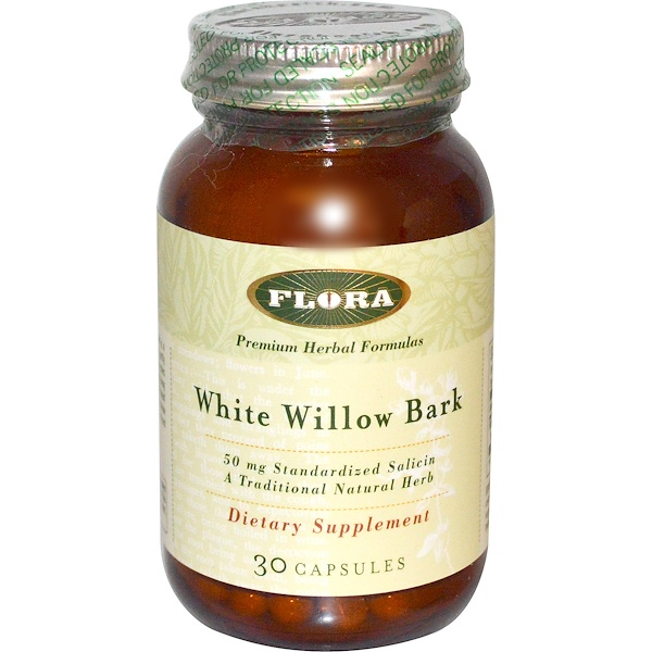 Flora, White Willow Bark, 30 Kapseln