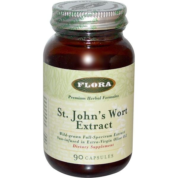 Flora, St. John's Wort Extract, 90 Capsules (Discontinued Item)