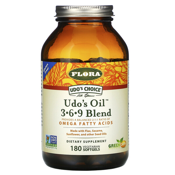 Udo's Choice, Udo's Oil 3-6-9 Blend, 180 Vegetarian Softgels