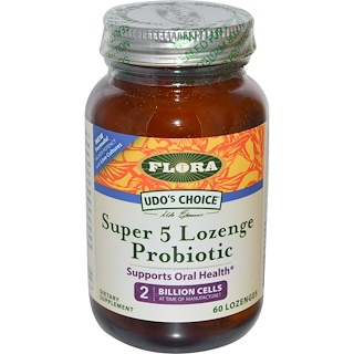 Flora, Udo's Choice, Super 5 Lozenge  Probiotic, 60 Lozenges