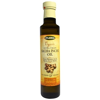 Flora, Organic Extra-Virgin Sacha Inchi Oil, 8.5 fl oz (250 ml)
