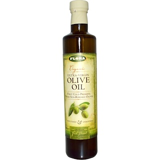 Flora, Organic Extra Virgin Olive Oil, 17 fl oz (500 ml)