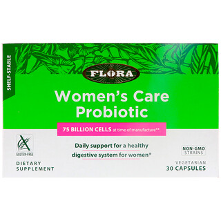 Flora, Women's Care Probiotic, Shelf-Stable, 30 Capsules