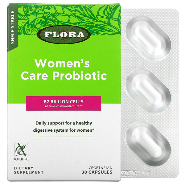 Women's Care Probiotic, Shelf-Stable, 87 Billion Cells, 30 Vegetarian Capsules