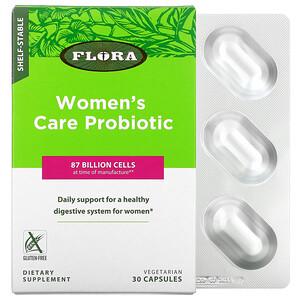 Флора, Women's Care Probiotic, Shelf-Stable, 87 Billion Cells, 30 Vegetarian Capsules отзывы