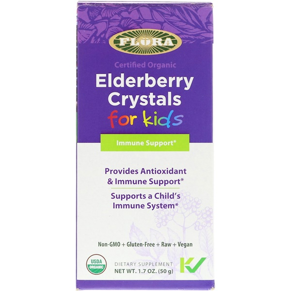 Certified Organic, Elderberry Crystals for Kids, 1.7 oz (50 g)