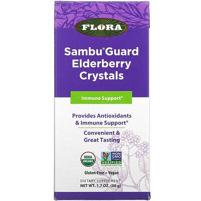 Flora Sambu Guard Elderberry Crystals, Immune Support, 1.7 oz ( 50 g)