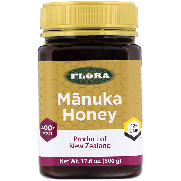 Manuka Honey, MGO 400+, 17.6 oz (500 g)