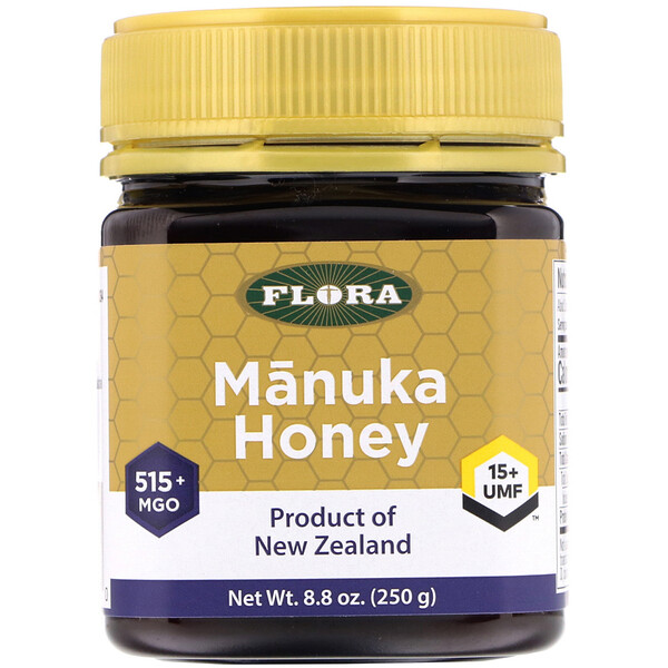 Flora, Manuka Honey, MGO 515+, 8.8 oz (250 g)