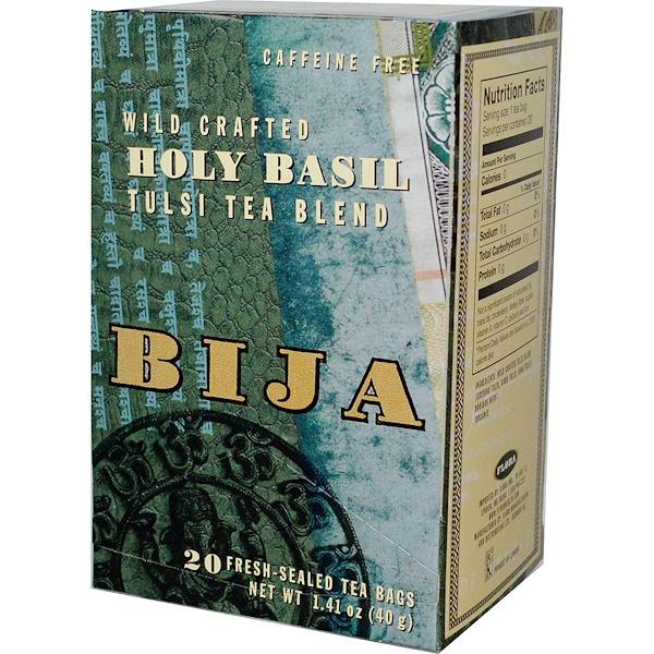 Flora, Bija, Holy Basil, Tulsi Tea Blend, Caffeine Free, 20 Tea Bags, 1.41 oz (40 g) (Discontinued Item)