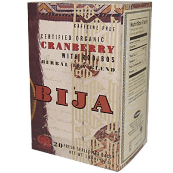 Flora, Bija, Cranberry with Rooibos Herbal Tea Blend, 20 Fresh-Sealed Tea Bags (Discontinued Item)