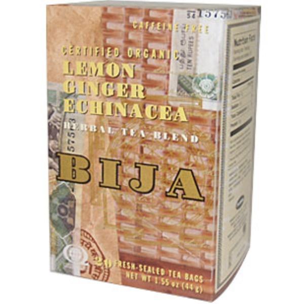Flora, Bija, Lemon Ginger Echinacea Herbal Tea Blend, 20 Fresh-Sealed Tea Bags (Discontinued Item)