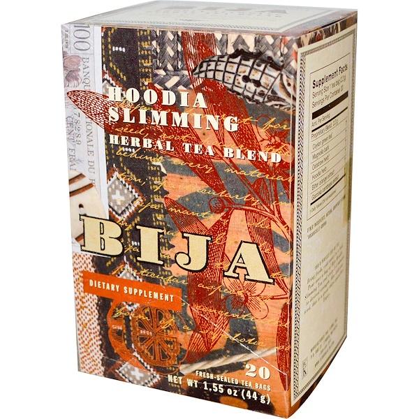 Flora, Bija, Herbal Tea Blend, Hoodia Slimming Tea, 20 Tea Bags, 1.55 oz (44 g) (Discontinued Item)
