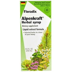 Флора, Floradix, Alpenkraft Herbal Syrup, Liquid Extract Formula, 8.5 fl oz (250 ml) отзывы