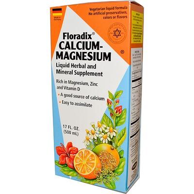 Купить Floradix, кальций-магний, 500 мл (17 жидких унций)