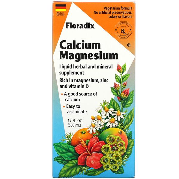 Flora, Floradix, кальций-магний, 500 мл (17 жидких унций) (Discontinued Item)