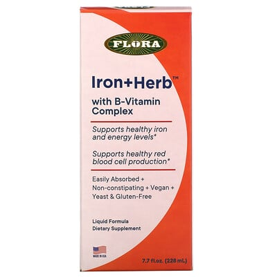 Flora Iron+ Herb With B-Vitmain Complex, 7.7 fl oz ( 228 ml)