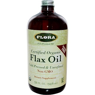 Flora, 인증된 유기농 아마 오일, 32 fl oz (946 ml)
