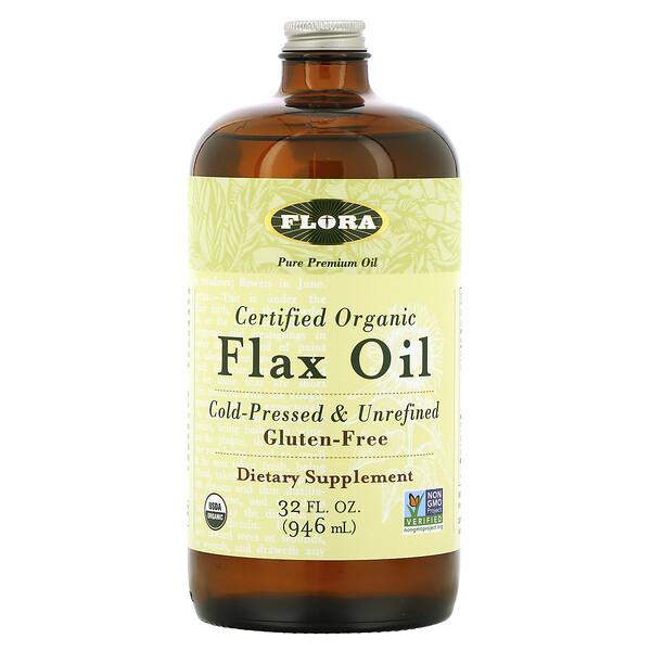 Certified Organic Flax Oil, 32 fl oz (946 ml)