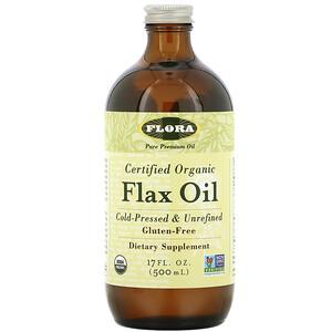 Флора, Certified Organic Flax Oil, 17 fl oz (500 ml) отзывы покупателей