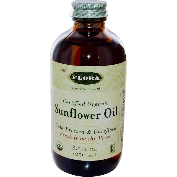Flora, Сертифицированное, органическое подсолнечное масло, 8,5 жидких унций (250 мл) (Discontinued Item)