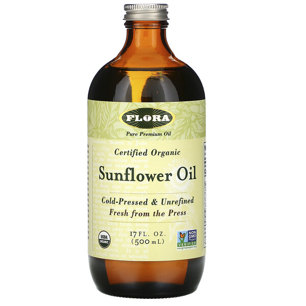 Certified Organic Sunflower Oil, 17 fl oz (500 ml)