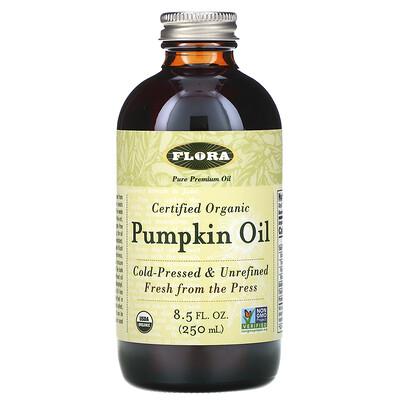 Flora Сертифицированное натуральное тыквенное масло, 8.5 жидких унций (250 мл)