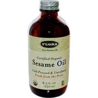 Flora, オーガニック認定のごま油、8.5液オンス(250 ml)