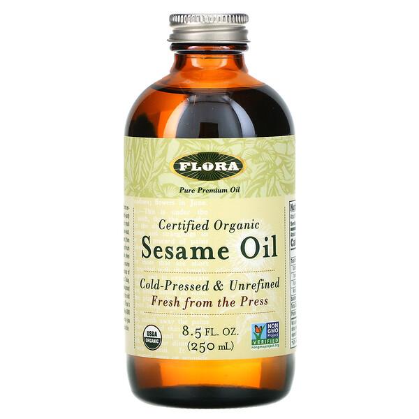 認定オーガニックゴマ油、250ml(8.5液量オンス)