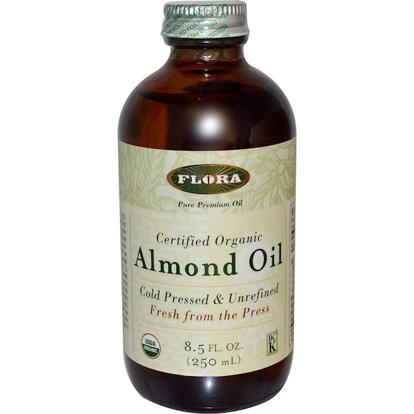 Flora, Certified Organic Almond Oil, 8.5 fl oz (250 ml) (Discontinued Item)