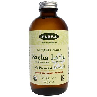 Flora, Organic Sacha Inchi, Pure Premium Oil, 8.5 fl oz (250 ml)