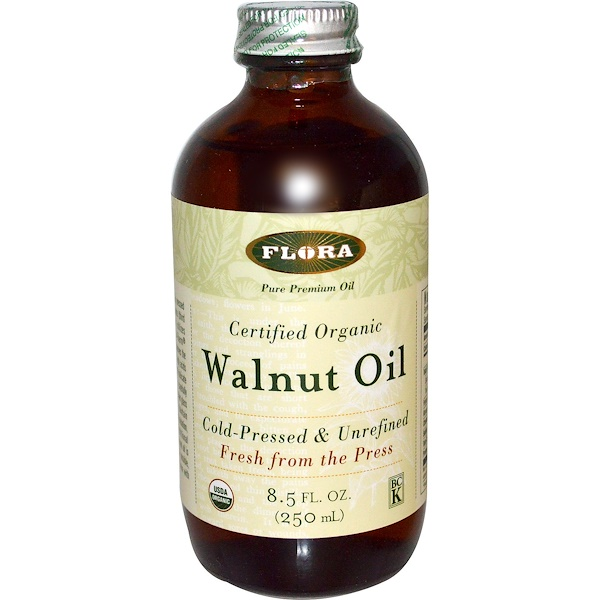 Flora, Certified Organic, Walnut Oil, 8.5 fl oz (250 ml) (Discontinued Item)