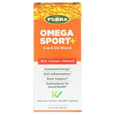 Flora Omega Sport +, 3-6-9 Oil Blend, 8.5 fl oz (250 ml)